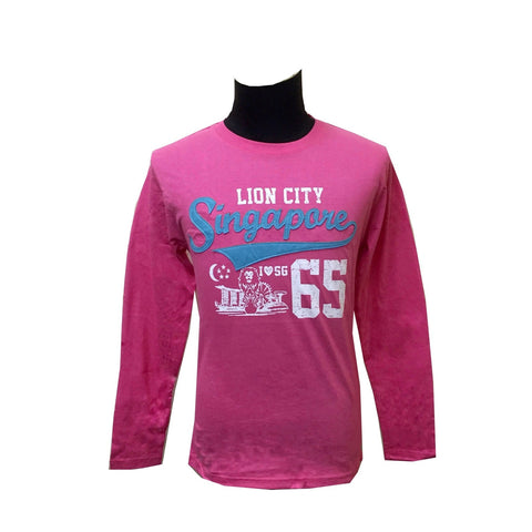 Singapore Lion Heart Long Sleeve Tees