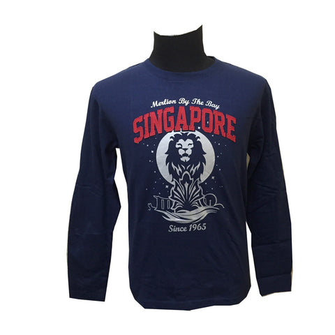 Singapore Night Sky Lion Long Sleeve Tees