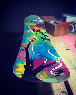 marhar snowboards first prototype