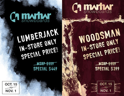 Lumberjack and Woodsman, Our 2017/18 Dealer Specials.