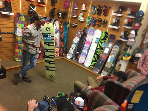 Marhar Snowboards Throwback clinic