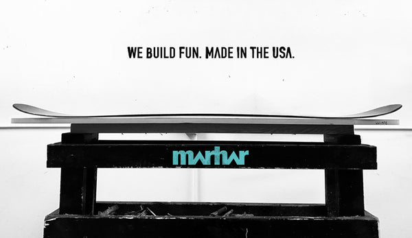 marhar snowboards camber image we build fun made in the usa