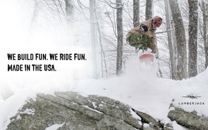 Marhar Snowboards lumberjack powder we build fun photo