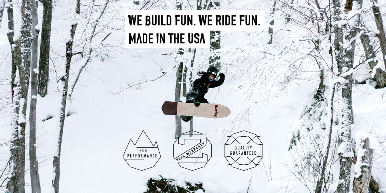 Marhar snowboards woodsman backcountry photo we build fun