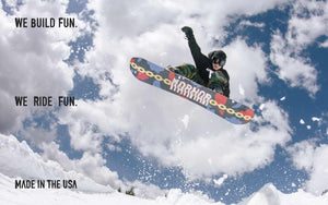 Marhar snowboards we build fun we ride fun made in the USA phot