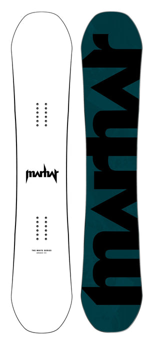 Marhar snowboards archaic white series custom graphic