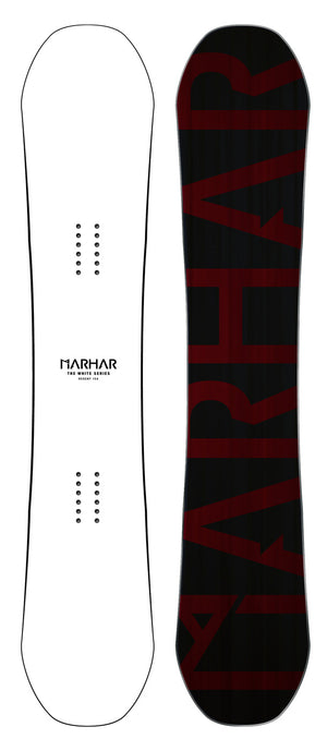 Marhar snowboards regent white series custom graphic