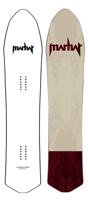 Marhar snowboards woodsman white series custom graphic