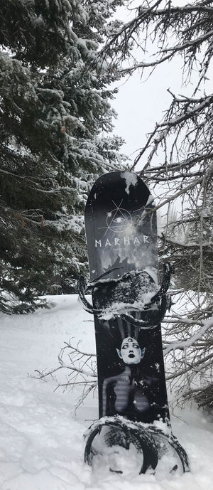 marhar darkside tree snowboarding photo