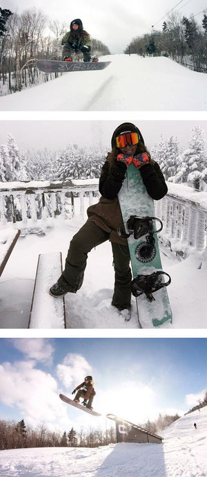 marhar lumberjill womens snowboarding collage photo