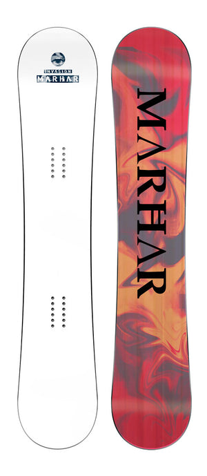 marhar white womens custom snowboard
