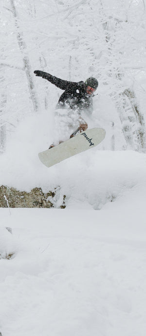 marhar woodsman backcountry powder snowboarding photo