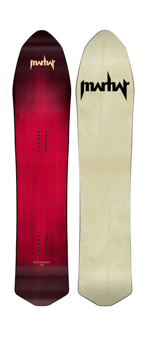 marhar woodsman short powder snowboard 2018 2019