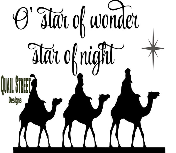 O Star Of Wonder - Vinyl Decal Free Shipping #433