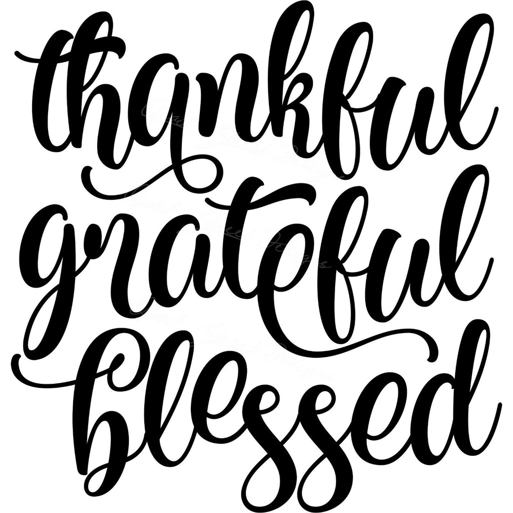 Thankful Grateful Blessed - Home Family - Vinyl Decal Free Shipping 1833