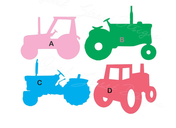 Farm Tractors - 4 Views To Choose From - Vinyl Decal Free Shipping #244