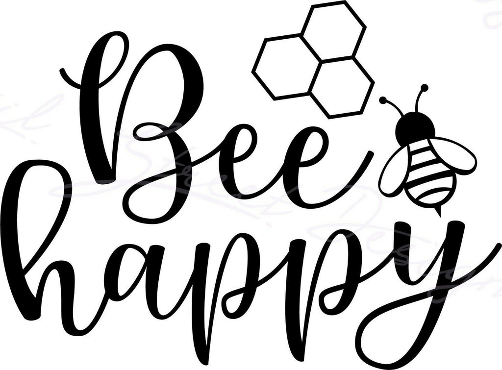 Bee Happy -  Vinyl Decal Free Shipping #1496