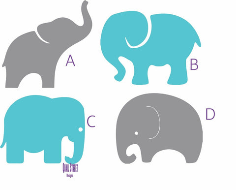 Baby Elephants Four To Choose From  - Vinyl Decal Free Shipping #95