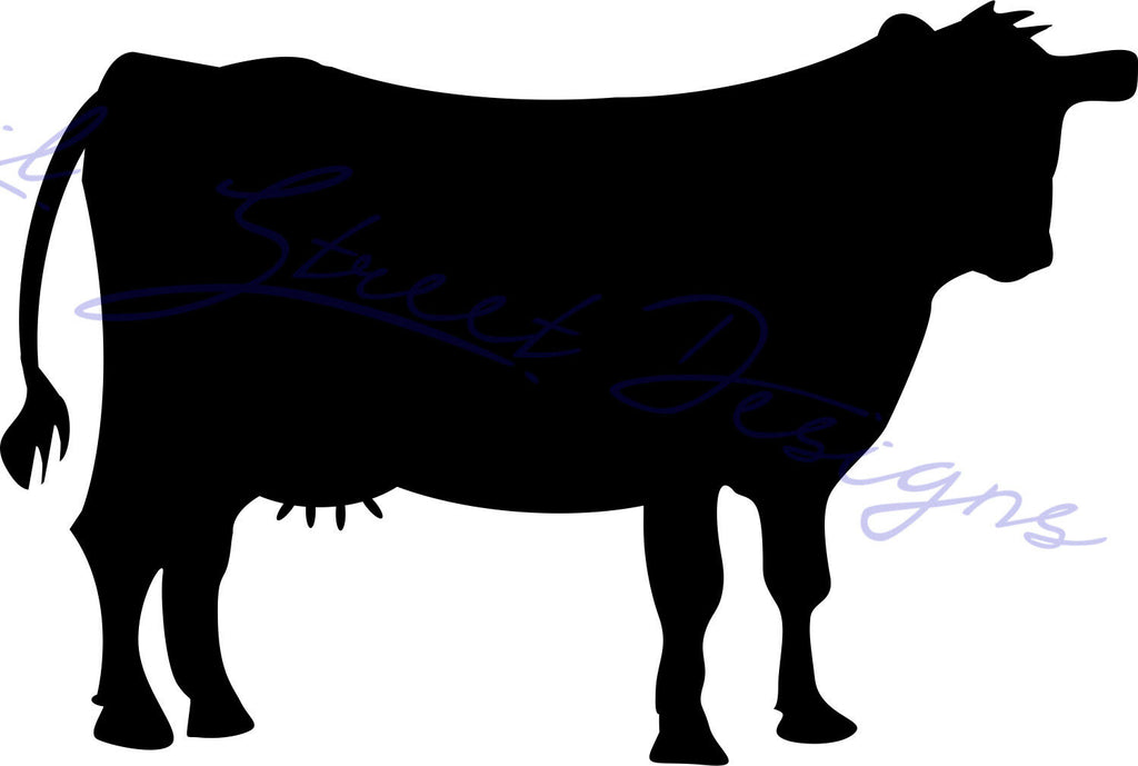 Cow Silhouette -  Vinyl Decal Free Shipping 991
