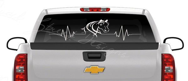 Horse Heartbeat - Vinyl Decal Free Shipping #34