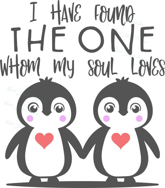 I Have Found The One Whom My Soul Loves - Vinyl Decal Free Shipping #144