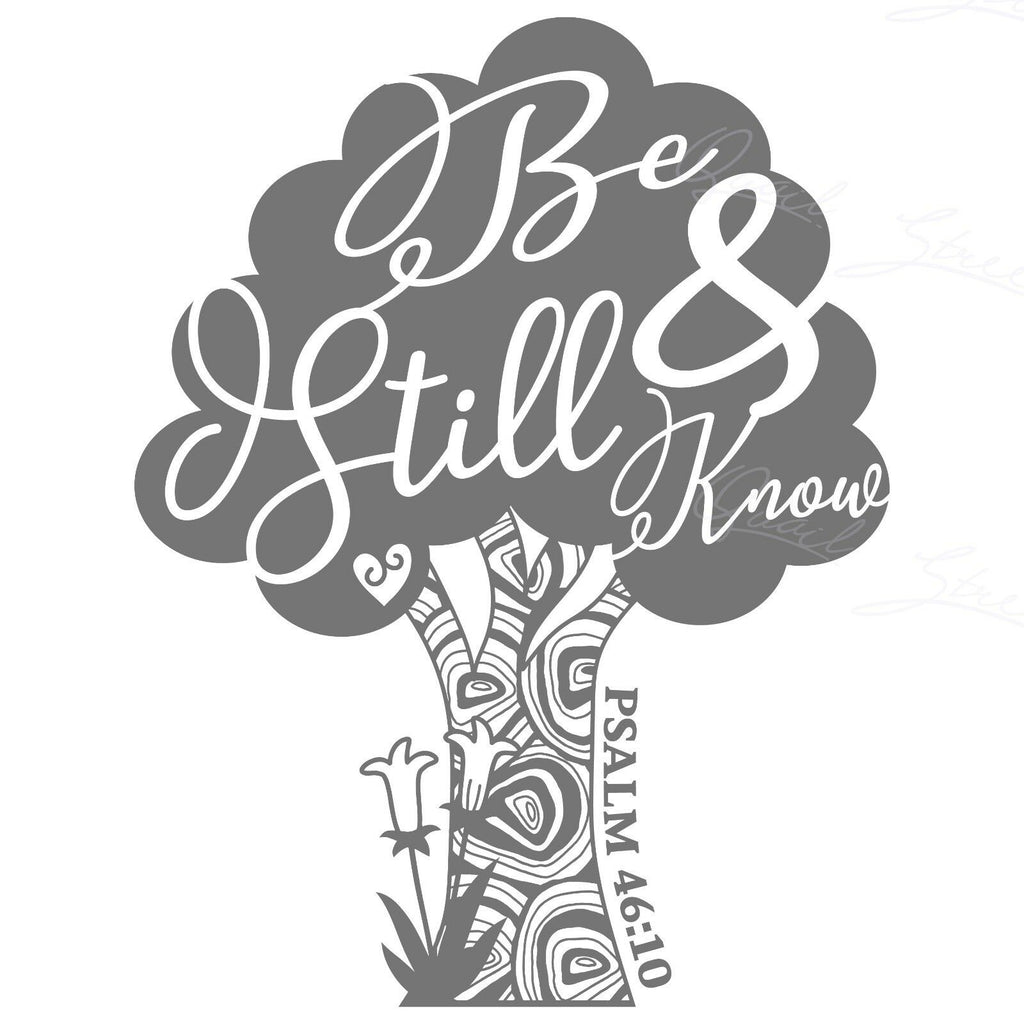 Be Still And Know That I Am God - Psalm 46:10 God Christian - Vinyl Decal Free Shipping #1209