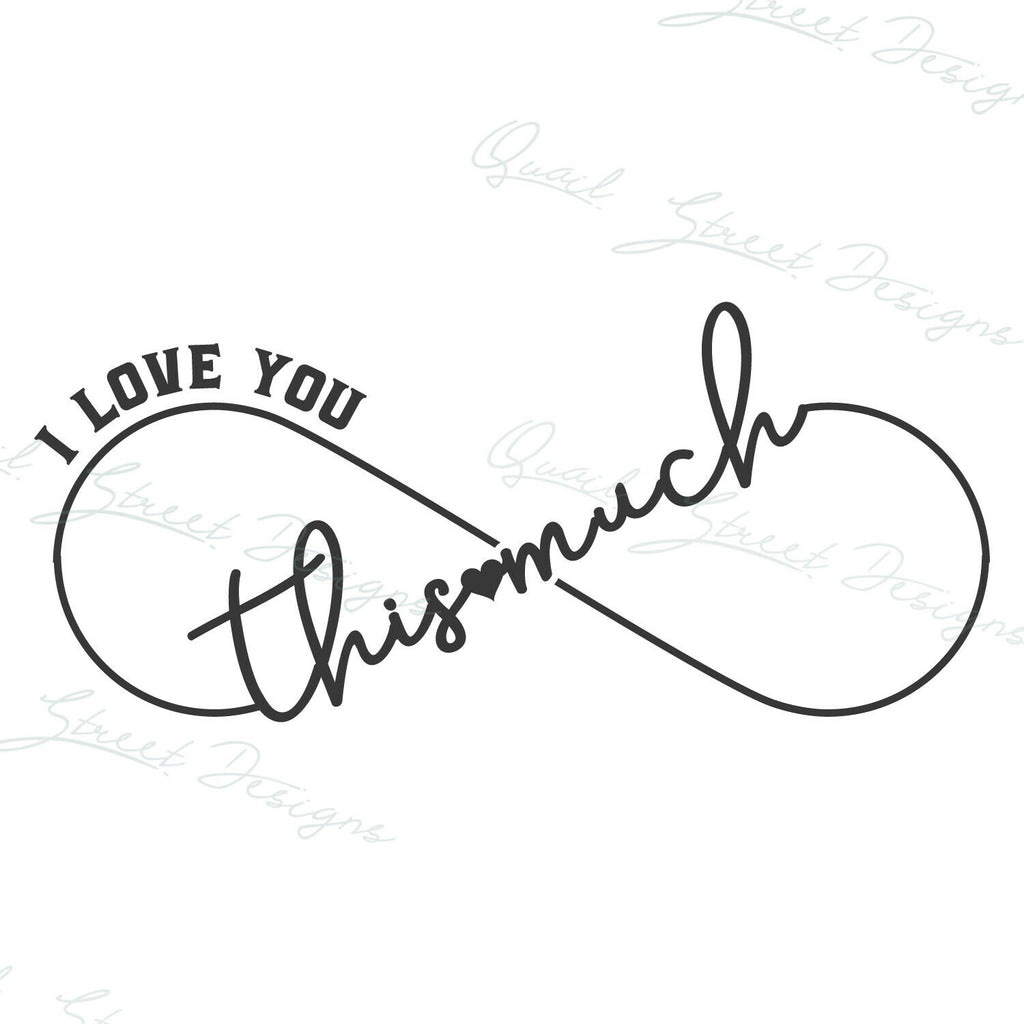 I Love You This Much - Infinity - Vinyl Decal Free Shipping #151