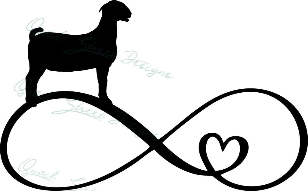Infinity Heart Goat - Vinyl Decal Free Shipping #1361