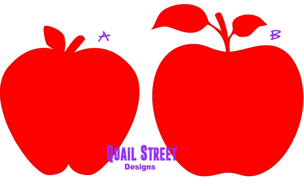 Apples - Two Views - Pick Your Style and Size  - Vinyl Decal Free Shipping #491