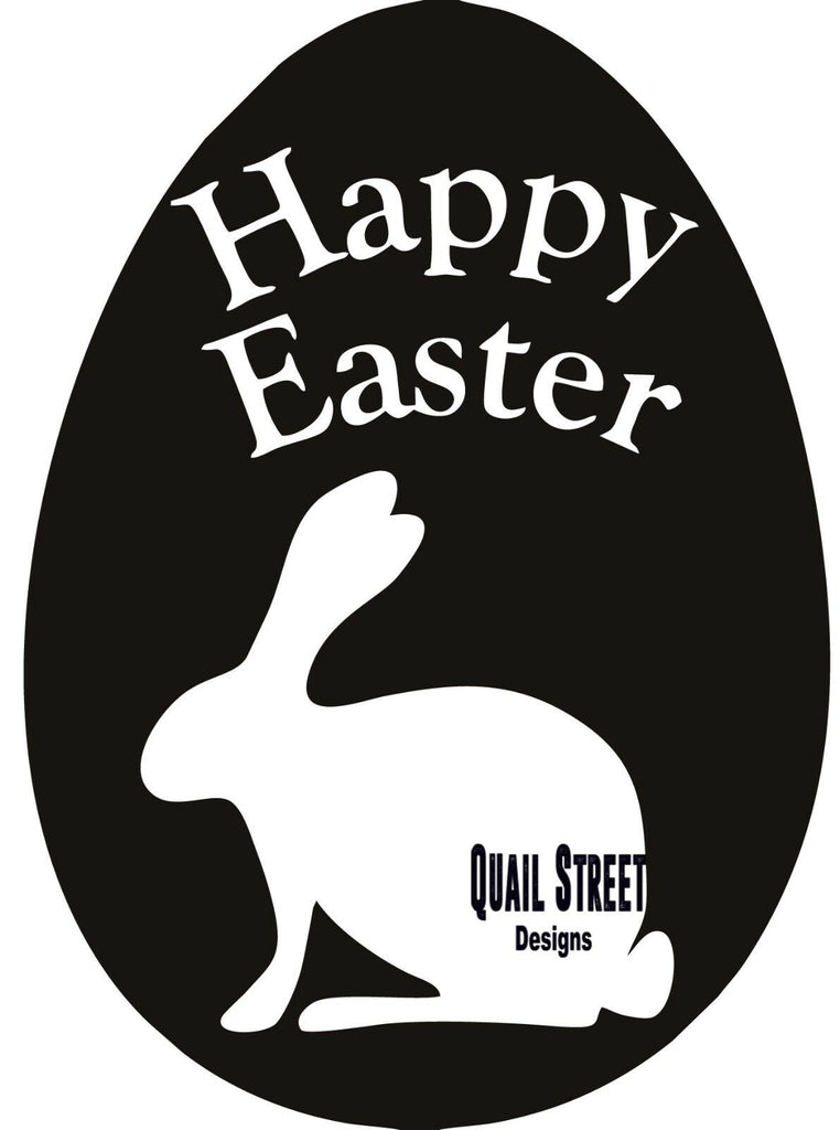 Happy Easter Bunny in Egg  - Vinyl Decal Free Shipping #199