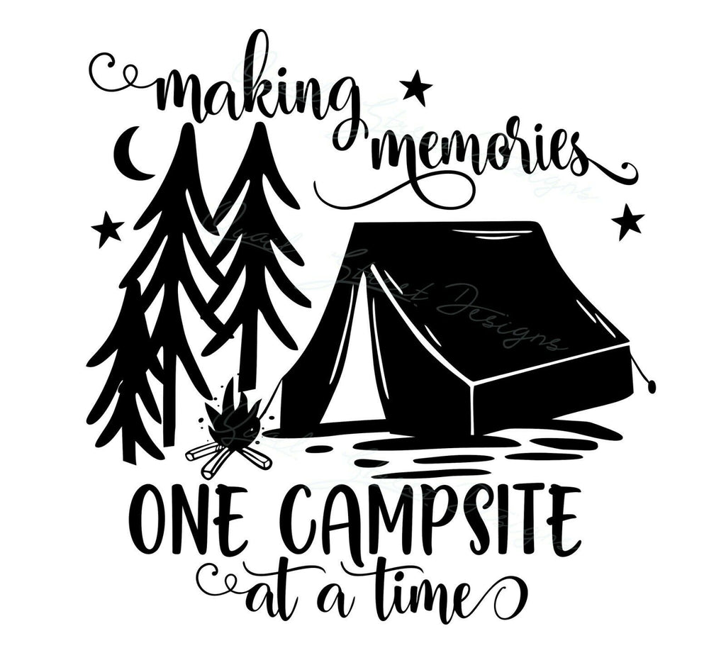 Making Memories One Campsite At A Time - Vinyl Decal Free Shipping #1931