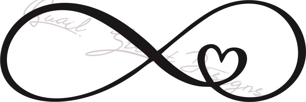 Infinity Heart - Vinyl Decal Free Shipping #466
