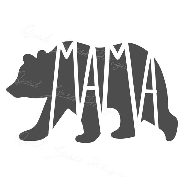 Mama Bear - Tribe Family Mother Mom Momma - Vinyl Decal Free Shipping 1202M