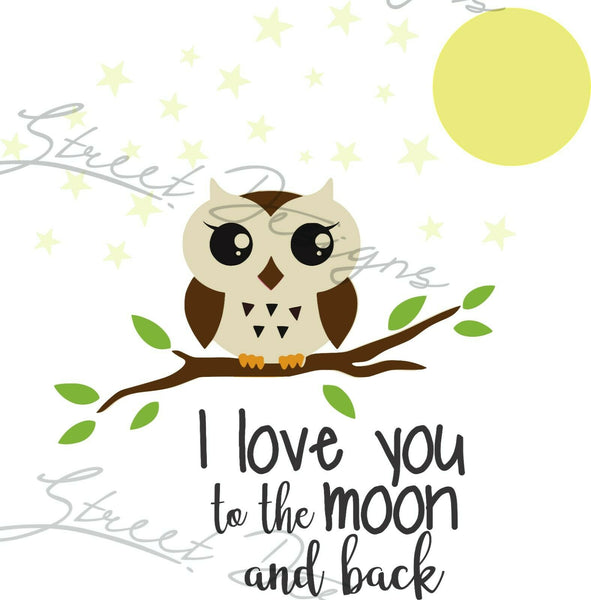 Love You To The Moon And Back - Vinyl Decal Free Shipping #1285