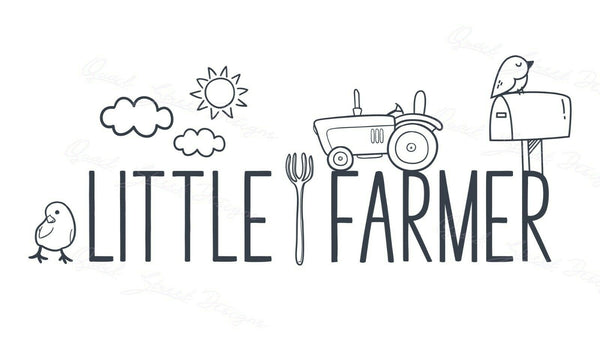 Little Farmer - Vinyl Decal Free Shipping #1495