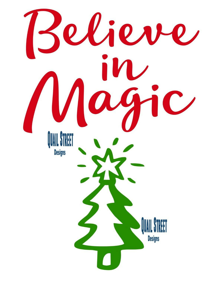 Believe In Magic - Christmas Tree - Vinyl Decal Free Shipping #160