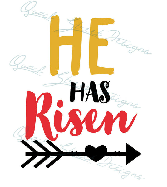 He Has Risen - Vinyl Decal Free Shipping #193