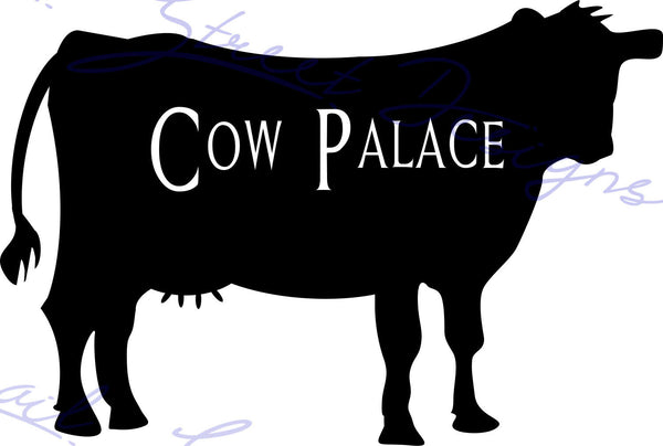 Personalized Cow Silhouette -  Vinyl Decal Free Shipping #992