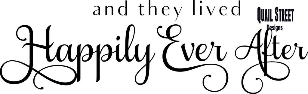 And They Lived Happily Ever After - Wedding Marriage - Vinyl Decal Free Ship #939