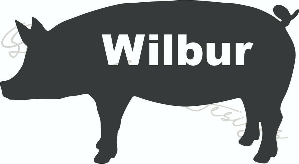 Show Pig Personalized - Vinyl Decal Free Shipping #1303