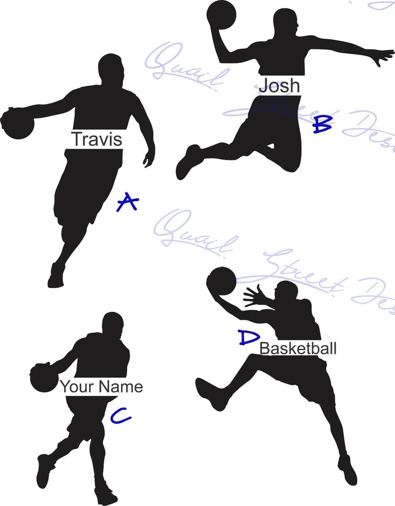Personalized Basketball Players  -  Vinyl Decal Free Shipping #731P