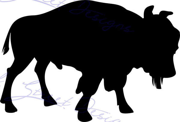 Buffalo Silhouette - Vinyl Decal Free Shipping  #964