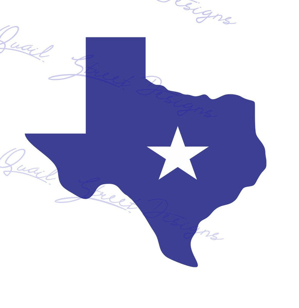 Texas With Star - Texan - Vinyl Decal Free Shipping #788