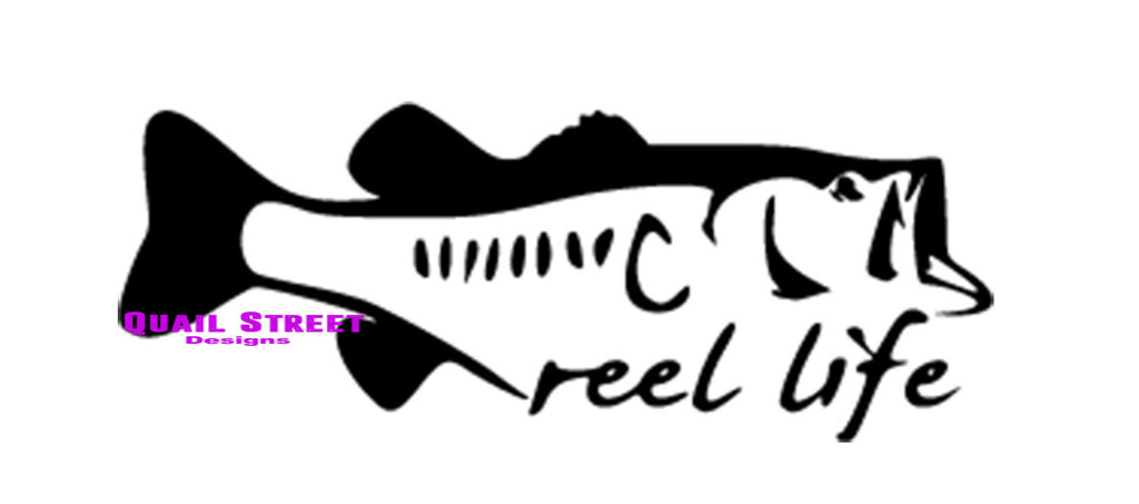 Reel Life - Vinyl Decal Free Shipping #557