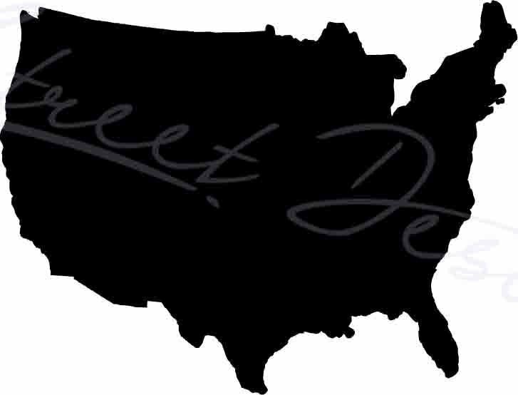 USA Silhouette - United States of America - Vinyl Decal 1141