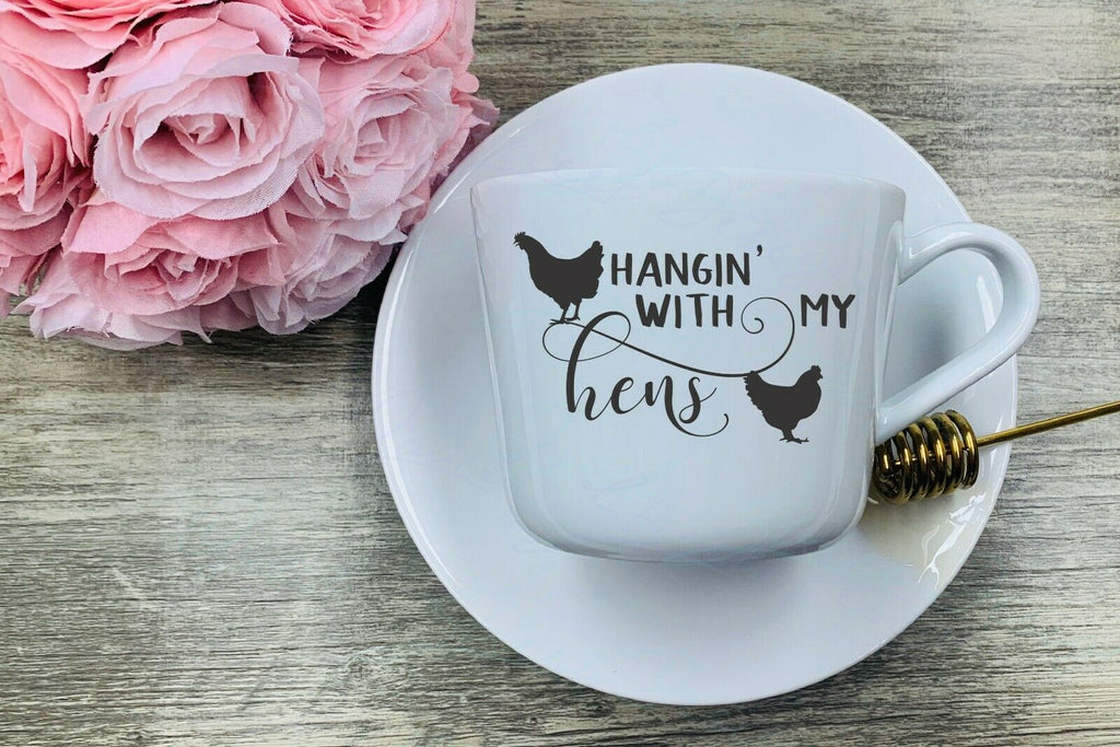 Hangin' With My Hens - Vinyl  Decal Free Shipping #2006