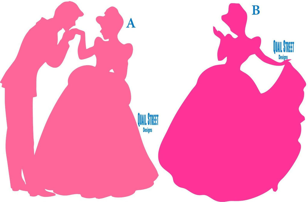 Cinderella Prince Silhouette Little's Girl Dream - Vinyl Decal Free Shipping #211