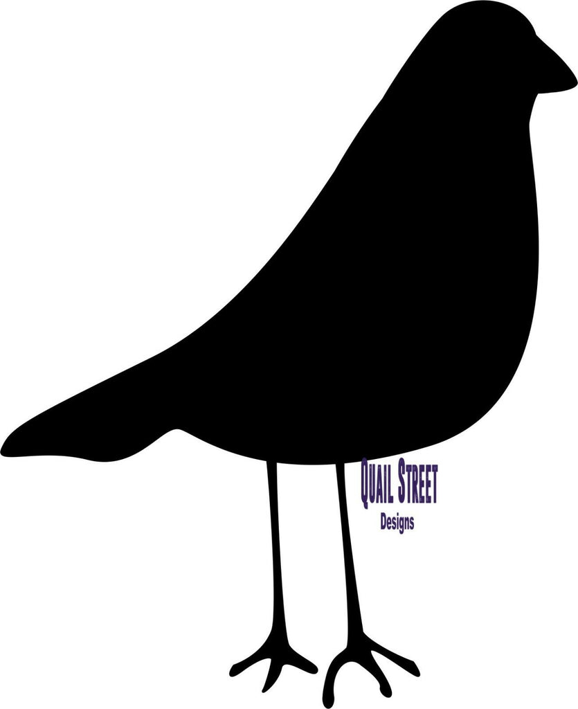 Cartoon Bird Silhouette - Vinyl Decal Free Shipping #128