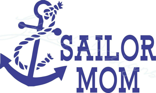 Sailor Mom - Vinyl Decal Free Shipping #1943
