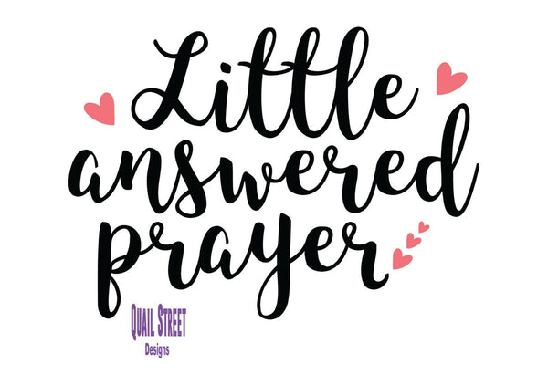 Little Answered Prayer - Vinyl Decal Free Shipping #85